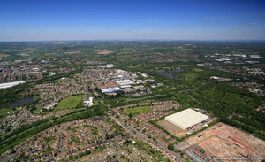 Redditch Worcestershire  aerial photograph