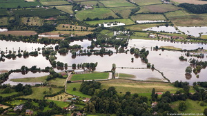 Bevere Worcester  during the great River Severn floods of 2007  aerial photograph