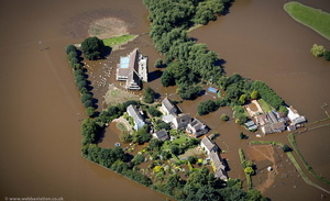 the great River Severn floods of 2007 aerial photograph