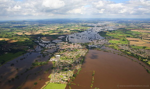 Upton-upon-Severn during the great River Severn floods of 2007  aerial photograph