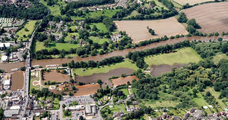 Stourport-on-Severn  floods  from the air