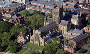 Worcester Cathedral from the air