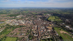 Worcester from the air