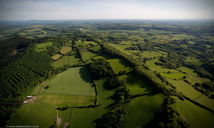Wallsgrove Hill near Great Witley Worcestershire from the air