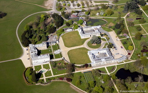 Woburn Abbey from the air