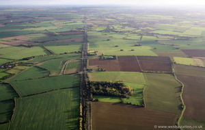 A1 roman road from the air