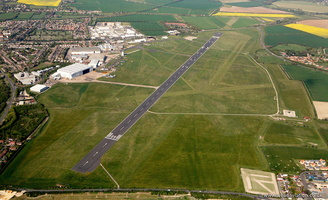 Cambridge Airport from the air