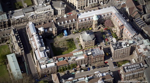 Cambridge University Downing Site  from the air