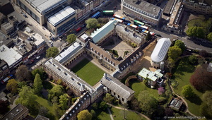 Emmanuel College, Cambridge from the air
