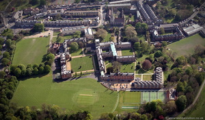 Jesus College Cambridge  from the air