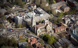 Our Lady and the English Martyrs Church Cambridge  from the air