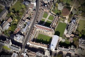 Pembroke College, Cambridge  from the air