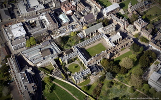 Peterhouse, Cambridge from the air