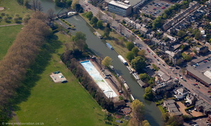 River Cam by Jesus Green, Cambridge  from the air