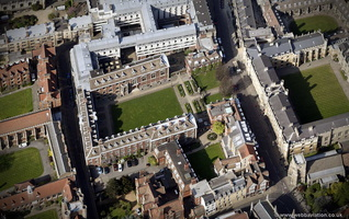 St Catharine's College, Cambridge from the air