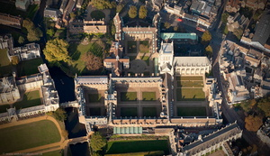 St John's College, Cambridge from the air