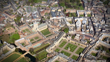 Trinity College, Cambridge University  from the air