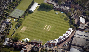University of Cambridge's cricket ground  Fenner's   from the air
