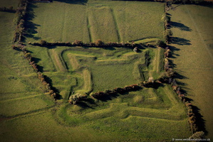 Earith Bulwark English Civil War Bastion  from the air