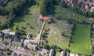 Old Cemetery St. Neots  from the air