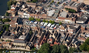High Street St Neots from the air
