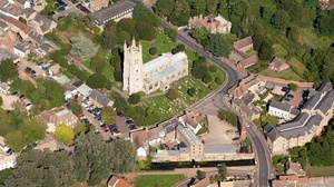 Saint Neots Parish Church , St. Neots  from the air