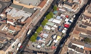 St Neots  Market from the air