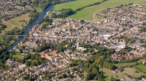 St Neots  from the air