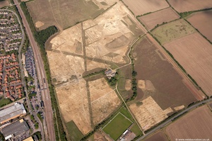 archaeology dig in St Neots  from the air