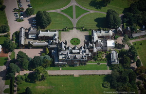 Capesthorne Hall Cheshire from the air