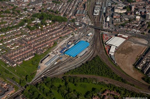 Chester traction maintenance depot ( TMD )  from the air