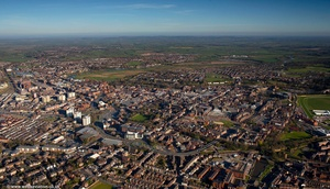 Chester city panorama from the air