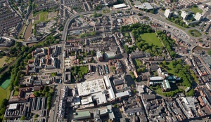 Chester city centre  from the air