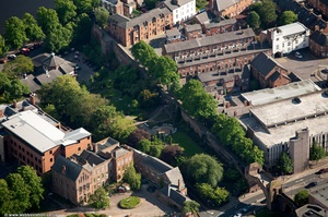 Chester city walls from the air