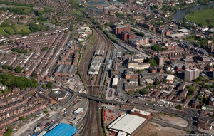 Chester railway station from the air