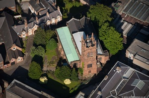Church of St Mary-on-the-Hill Chester from the air