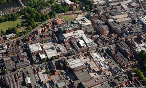 Foregate St, Chester city centre  from the air