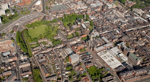 Northgate Street Chester city centre  from the air