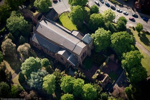 St John the Baptist's Church, Chester from the air
