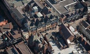 The Chester Grosvenor Hotel  from the air