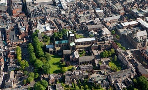 Chester Cathedral from the air