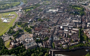 Lower Bridge St, Chester city centre  from the air
