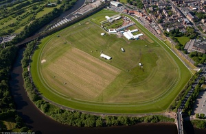 Chester Racecourse from the air
