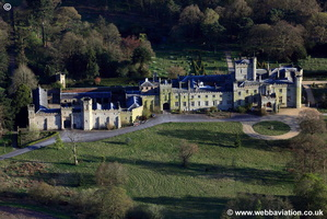 Great Moreton Hall Cheshire aerial photograph