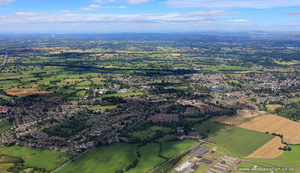 Alsager Cheshire aerial photograph