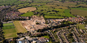 new houses under construction in Alsager Cheshire from the air