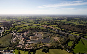 White Moss Quarry Alsager Cheshire from the air