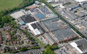 The Linotype and Machinery Company (L&M) Factory , Broadheath , Altrincham from the air