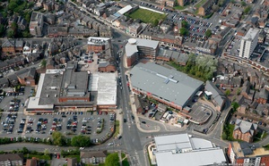 Bowdon railway station site, Altrincham  from the air