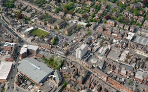 Railway St Altrincham WA14  from the air